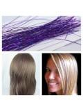 100 шт. Фиолетовый цвет. Нити для волос.