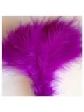 20 шт. Фиолетовый цвет. Перья боа марабу 8-15 см.
