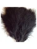 20 шт. Черный цвет. Перья боа марабу 8-15 см.