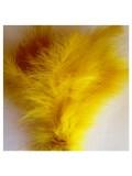 20 шт. Желтый цвет. Перья боа марабу 8-15 см.