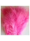 20 шт. Розовый цвет. Перья боа марабу 8-15 см.