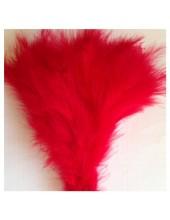 20 шт. Красный цвет. Перья боа марабу 8-15 см.