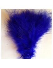 20 шт. Синий цвет. Перья боа марабу 8-15 см.