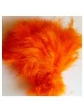 20 шт. Оранжевый цвет. Перья боа марабу 8-15 см.