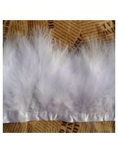 1 м. Белый цвет. Тесьма из перьев боа. Ширина 5-7 см.