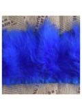 1 м. Синий  цвет. Тесьма из перьев боа. Ширина 5-7 см.