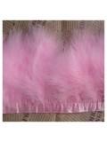 1 м. Розовый цвет. Тесьма из перьев боа. Ширина 5-7 см.
