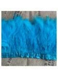 1 м.  Голубой  цвет. Тесьма из перьев боа. Ширина 5-7 см.
