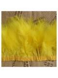 1 м. Желтый цвет. Тесьма из перьев боа. Ширина 5-7 см.