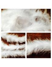 1 шт. Белый цвет. Боа тесьма из перьев марабу 4-5 см
