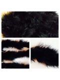 Черный цвет. Боа тесьма из перьев марабу 4-5 см