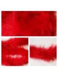 Красный цвет. Боа тесьма из перьев марабу 4-5 см