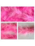 Розовый цвет. Боа тесьма из перьев марабу 4-5 см