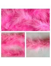1 шт. Розовый цвет. Боа тесьма из перьев марабу 4-5 см