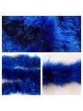 Синий цвет. Боа тесьма из перьев марабу 4-5 см