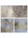 Молочный цвет. Боа тесьма из перьев марабу 4-5 см