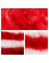 1 шт. Красный цвет. Боа тесьма из перьев марабу 6-7 см