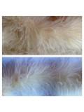 Молочный цвет.  Боа тесьма из перьев марабу 6-8 см.