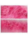 Ярко-розовый цвет. Боа тесьма из перьев марабу 6-8 см
