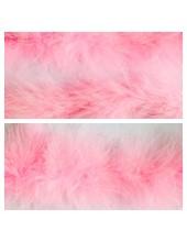 Розовый цвет. Боа тесьма из перьев марабу 6-8 см