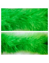 Зеленый цвет. Боа тесьма из перьев марабу 6-8 см
