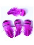 10 шт. Фуксия цвет. Перья фазана 3-6 см. Цветное перо