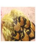10 шт. Желтый цвет. Перья фазана 4-9 см.