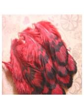 10 шт. Красный цвет. Перья фазана 4-9 см.