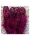 10 шт. Фуксия цвет. Фазан цветное перо 4-7 см