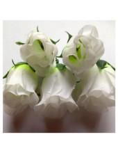 1 шт. Белый цвет. Розы головки. Искусственные цветы 6-7 см.