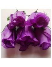 1 шт. Фиолетовый цвет. Розы головки. Искусственные цветы 6-7 см.