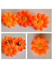 3115.1 шт. Оранжевый цвет. Цветные  ромашки 4 см.