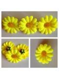3115.1 шт. Желтый цвет. Цветные  ромашки 4 см.