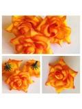 3113.1 шт. Оранжевый цвет. Цветные головки роз 5 см.