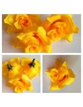 3113.1 шт. Желтый цвет. Цветные головки роз 5 см.