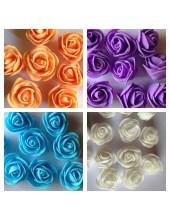 Цветные головки роз.