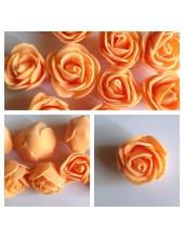 1919.1 шт. Оранжевый цвет. Цветные головки роз 3 см.