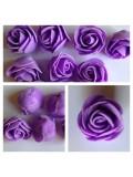 1919.1 шт. Фиолетовый цвет. Цветные головки роз 3 см.