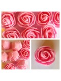 1919.1 шт. Розовый цвет. Цветные головки роз 3 см.