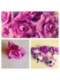 357.1 шт. Фиолетовый цвет. Розы головки 4 см.