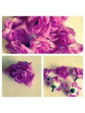 357.1 шт. Фиолетовый-белый цвет. Розы головки 4 см.