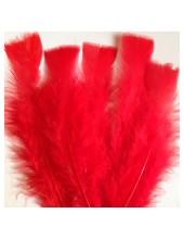 20 шт. Красный цвет. Перо Индейки 11-16 см