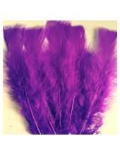 20 шт. Фиолетовый цвет. Перо индейки 9-15 см.