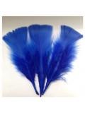 20 шт. Синий цвет. Перо Индейки 5-8 см