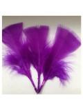 20 шт. Фиолетовый цвет. Перо Индейки 5-8 см