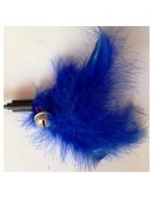 683. 1 шт. Синий цвет. Игрушка из перьев птиц с колокольчиком