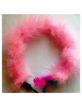 622. 1 шт. Розовый цвет. Игрушка из перьев птиц