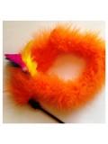623. 1 шт. Оранжевый цвет. Игрушка из перьев птиц