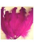 20 шт. Фуксия цвет. Гусиное перо 12-16 см. Кудри