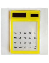1 шт.  Желтый цвет. Калькулятор солнечный прозрачный